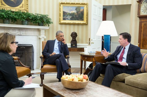 President_Barack_Obama_receives_an_update_in_the_Oval_Office_from_FBI_Director_James_Comey_and_Homeland_Security_Advisor_Lisa_Monaco_on_the_mass_shooting_in_Orlando,_Fla_(27019200873)