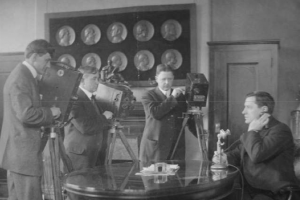 1913_JamesCurley_press_conference_Boston